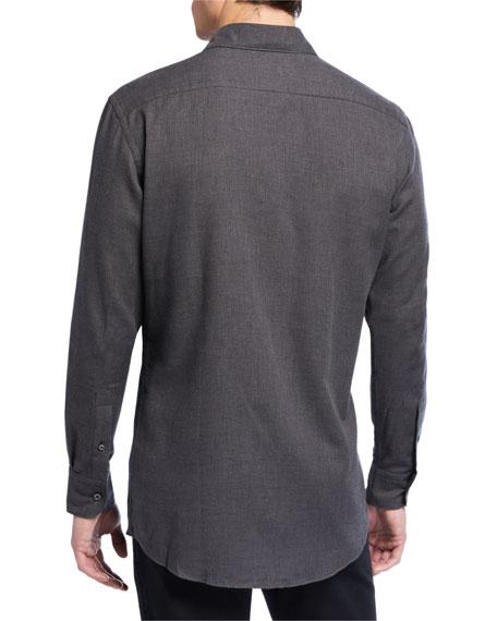 Ermenegildo Zegna Men's Cotton/Cashmere Twill Sport Shirt