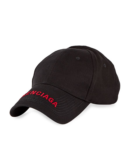Balenciaga Men's Embroidered Logo Baseball Hat