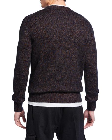 Ermenegildo Zegna Men's Heathered Crewneck Sweater
