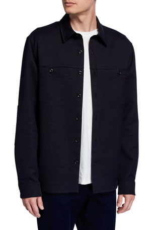 Vince Men's Double-Face Twill Shirt Jacket