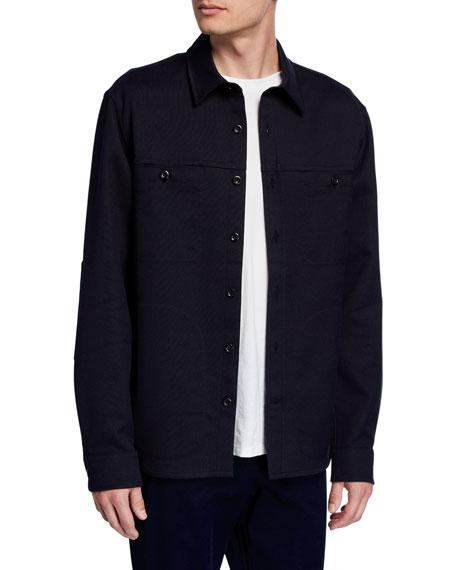 Vince Men's Double-Face Twill Shirt Jacket