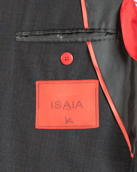 Isaia Men's Tonal Box-Check Two-Piece Suit