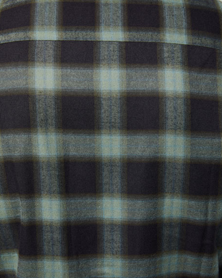 Image 3 of 3: Brioni Men's Loden Plaid Sport Shirt