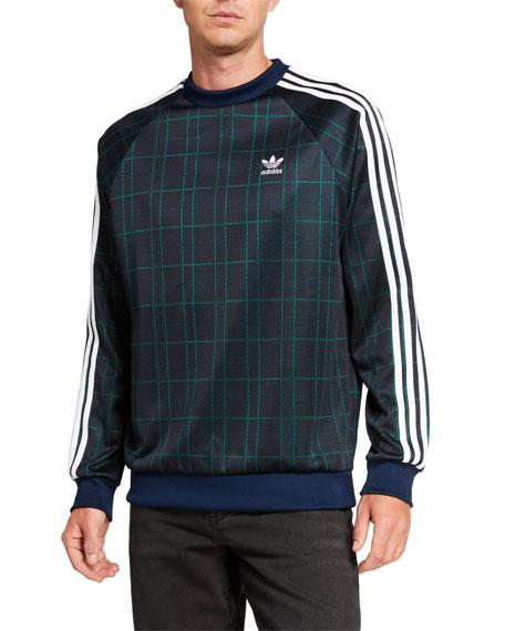 Adidas Men's Tartan Crewneck Sweatshirt