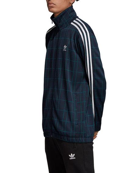 Adidas Men's Tartan Plaid 3-Stripes Track Jacket