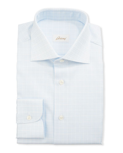 Men's 3-Line Check Dress Shirt