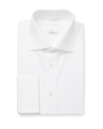 Men's Horizontal-Textured Cotton Dress Shirt