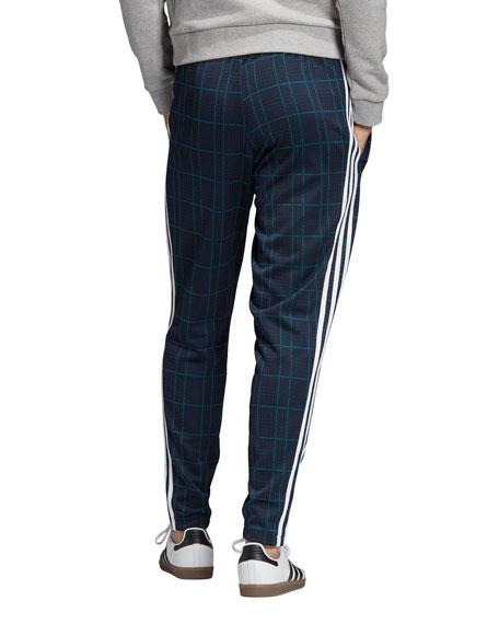Adidas Men's Tartan Plaid, 3-Stripes Track Pants