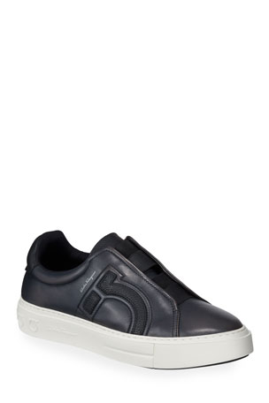Salvatore Ferragamo Men's Tasko Slip-On Leather Sneakers