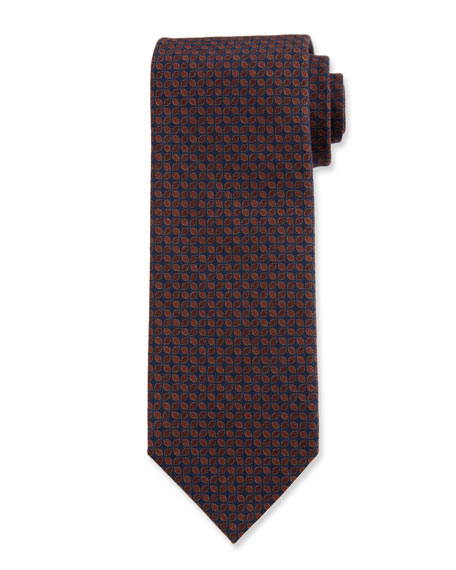 Ermenegildo Zegna Men's Connected Petals Wool Tie