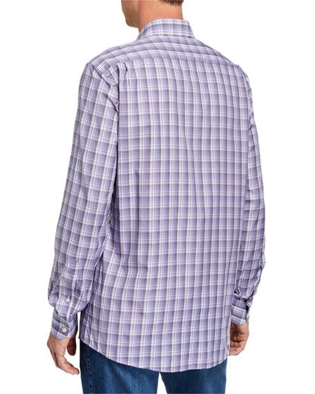 Ermenegildo Zegna Men's Cento Quaranta Plaid Sport Shirt