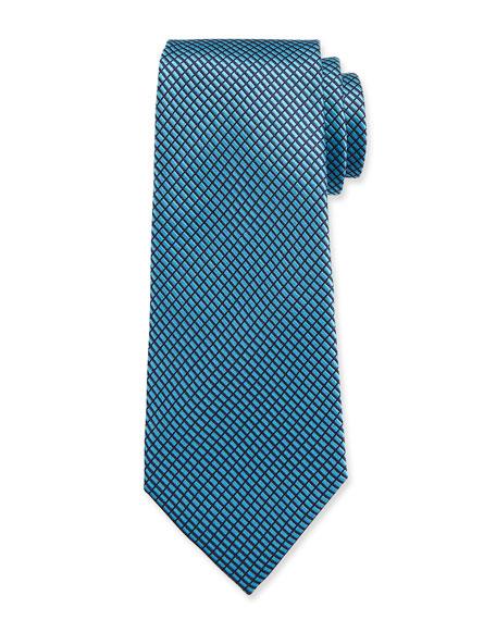 Ermenegildo Zegna Men's Tonal Screen Weave Silk Tie