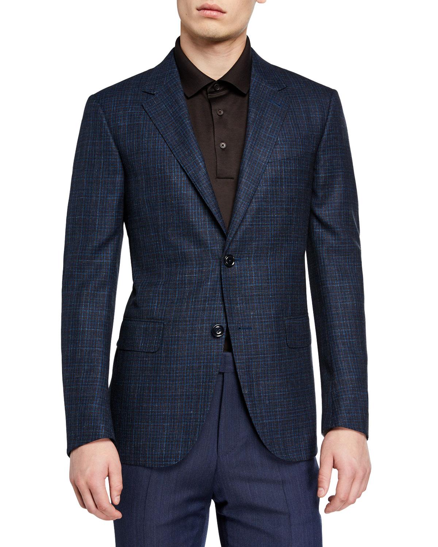 59d388e2ba Men's Wool-Blend Check Sport Coat
