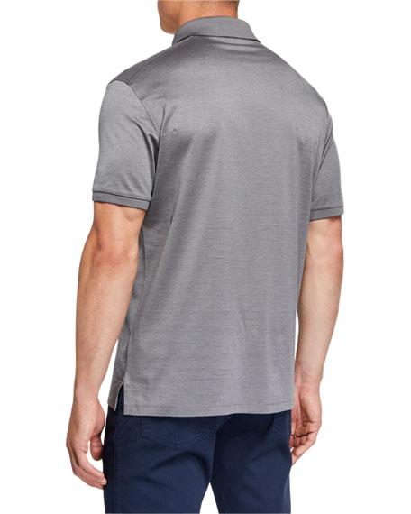 Ermenegildo Zegna Men's Natural Pique Polo Shirt
