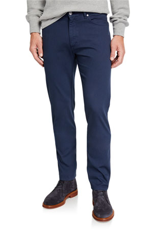Ermenegildo Zegna Men's 5-Pocket Twill Regular-Fit Pants