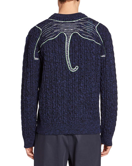 Kenzo Men's Claw Tiger Graphic Sweater
