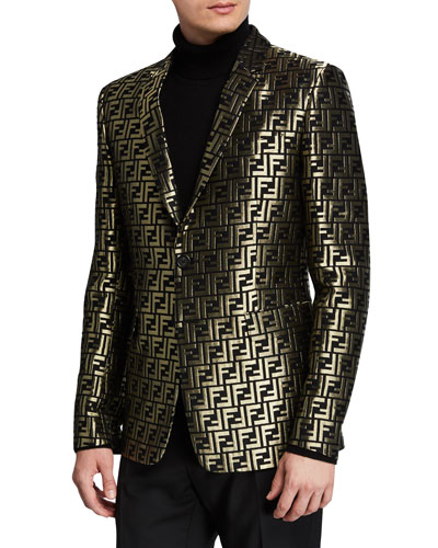 Men's Metallic FF Two-Button Jacket