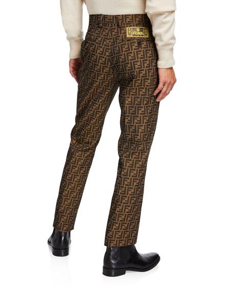 Fendi Men's FF Jacquard Straight-Leg Jeans