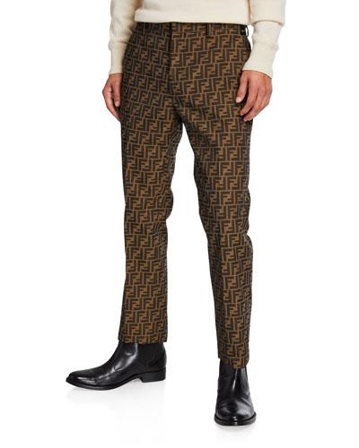 Men's FF Jacquard Straight-Leg Jeans