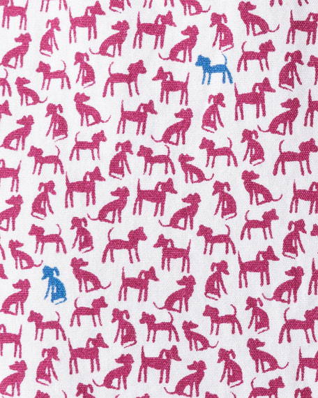 Rodd & Gunn Men's Kennels Lane Dog-Print Sport Shirt