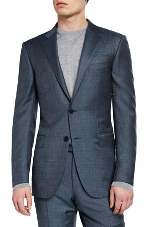Ermenegildo Zegna Men's Two-Piece Textured Regular-Fit Solid Suit