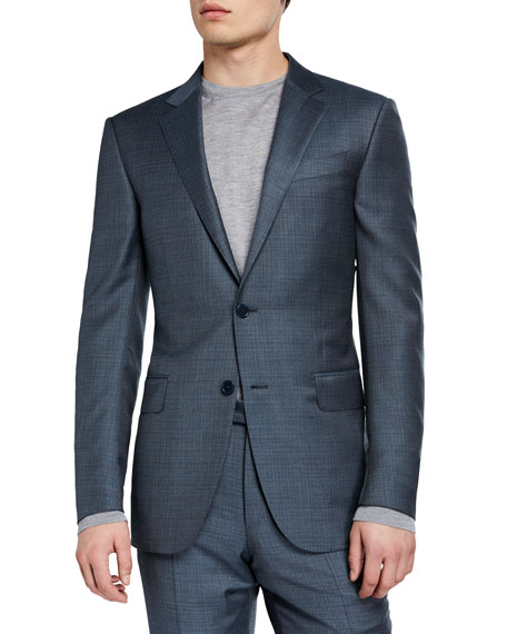 Ermenegildo Zegna Men's Two-Piece Textured Solid Suit