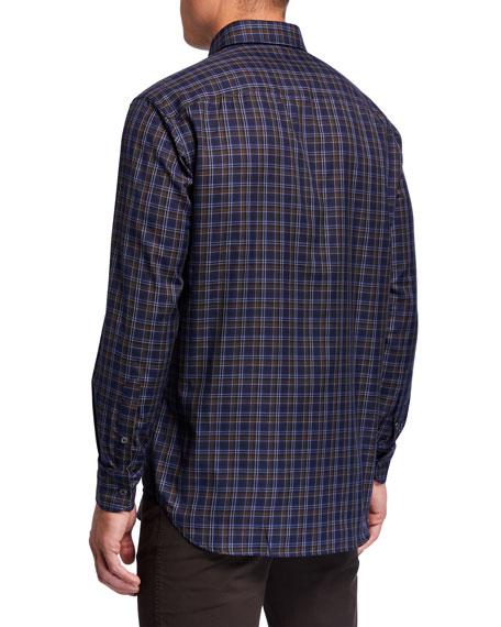 Brioni Men's Check Sport Shirt