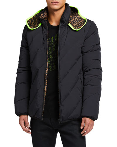 Men's Reversible Quilted Puffer Jacket