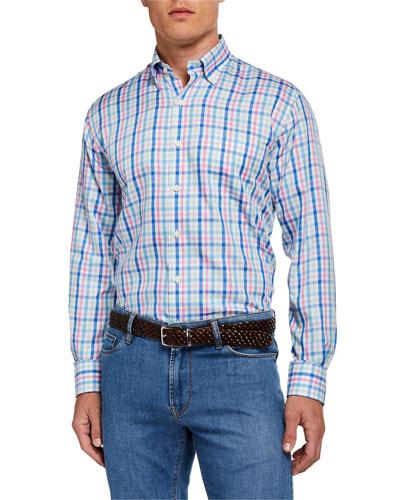 Men's Soft Crown Plaid Sport Shirt