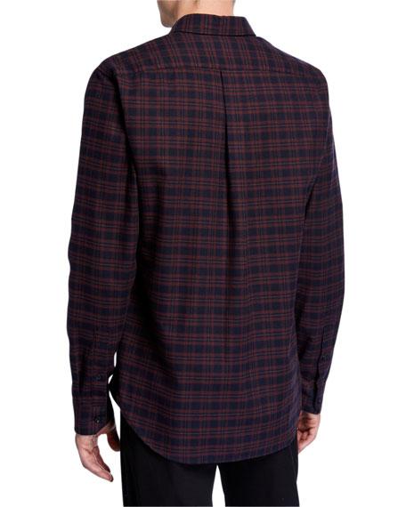 Vince Men's Brushed Shadow Plaid Sport Shirt