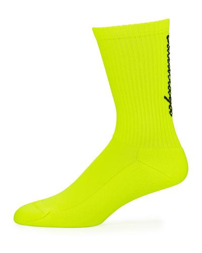 Men's Logo-Knit Socks