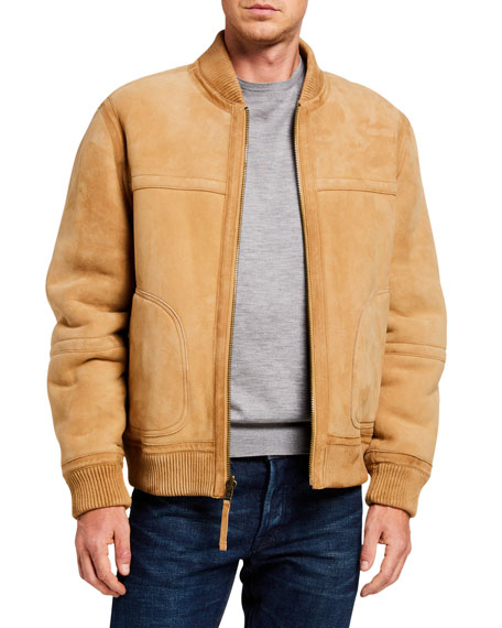 Vince Men's Reversible Shearling Bomber Jacket