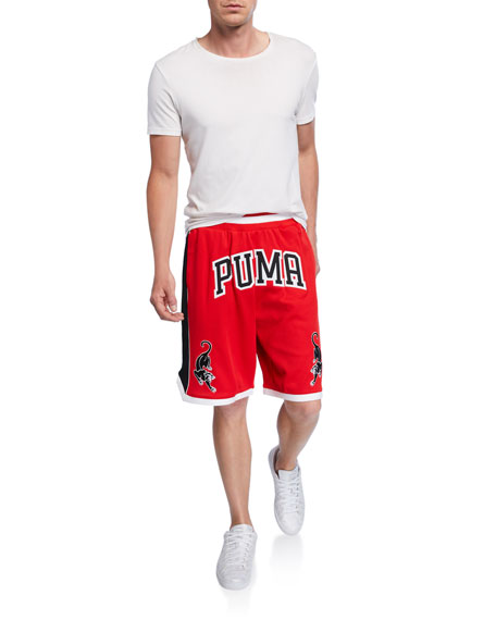 Puma Men's Last Dayz Graphic Logo Mesh Shorts