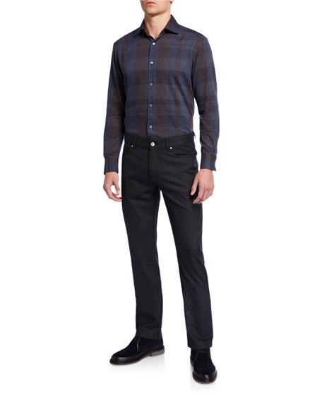 Ermenegildo Zegna Men's Straight-Leg Wool Stretch Pants