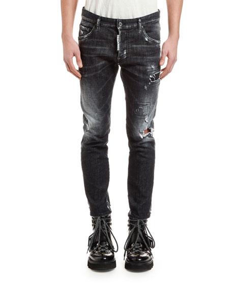 Dsquared2 Men's Distressed Skater Jeans