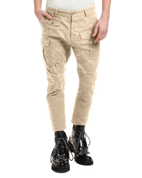 Dsquared2 Men's Distressed Chino Cargo Pants