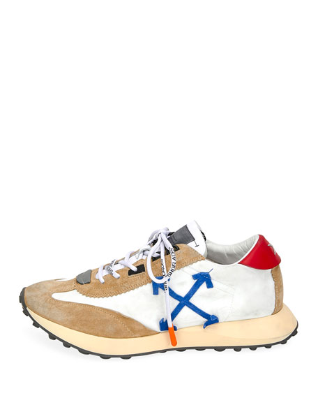 Off-White Men's Arrow Colorblock Running Sneakers