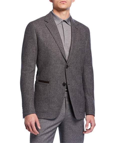 Ermenegildo Zegna Men's Herringbone Two-Button Jacket