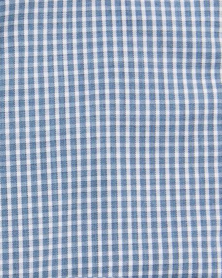 Ermenegildo Zegna Men's Gingham Check Sport Shirt