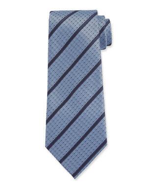 e9b24267056c7 Ermenegildo Zegna Men's Textured Stripe Tie