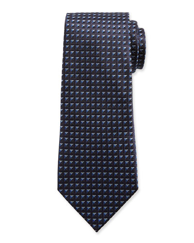 Men's Shaded Squares Silk Tie