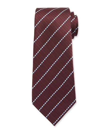 Ermenegildo Zegna Men's Stitched Stripe Tie