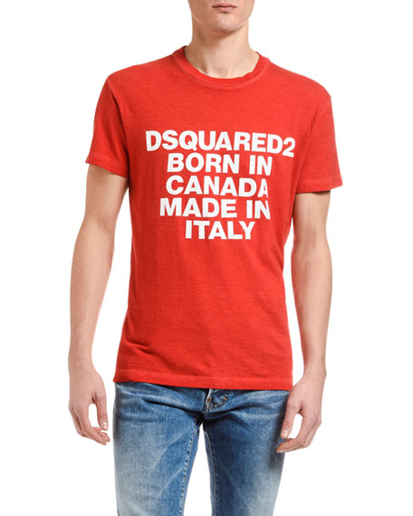 Dsquared2 Men's Logo Typographic T-Shirt