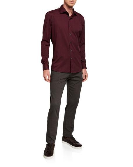 Ermenegildo Zegna Men's 5-Pocket Straight-Leg Cotton Canvas Pants