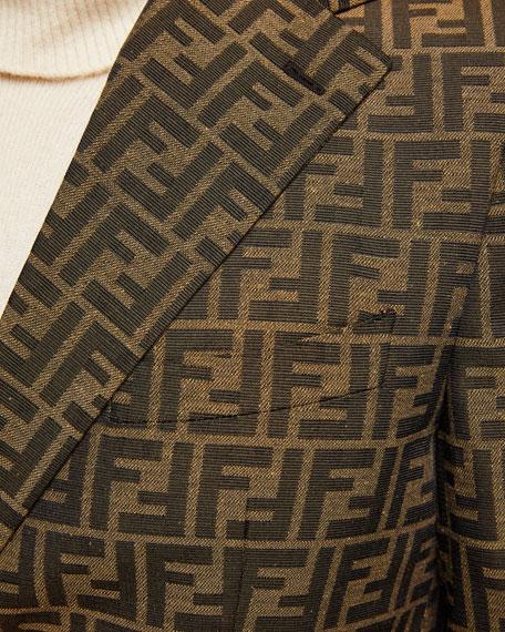 Fendi Men's FF Jacquard Two-Button Jacket