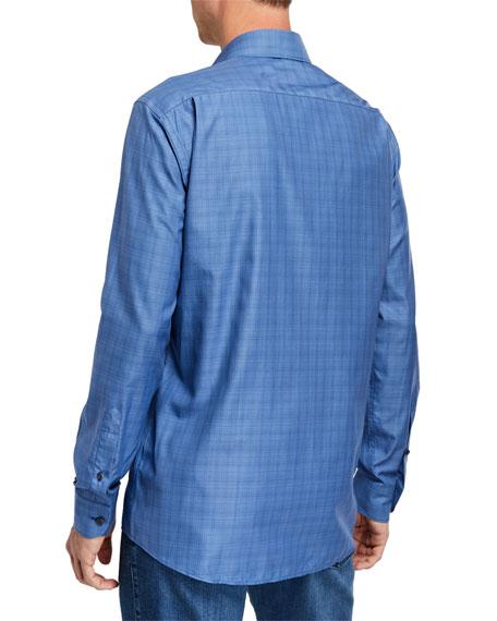 Ermenegildo Zegna Men's Traveler Micro-Plaid Sport Shirt