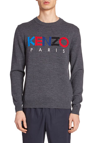Kenzo Men's Embroidered Logo Sweater