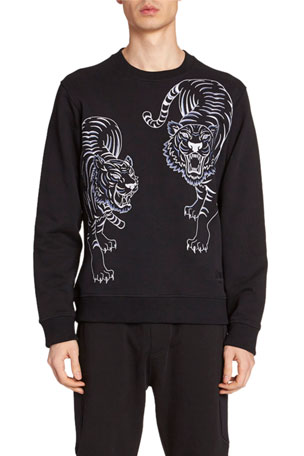 Kenzo Men's Double Tiger Graphic Sweatshirt