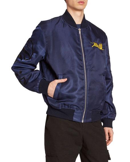 Kenzo Men's Jumping Tiger Nylon Bomber Jacket