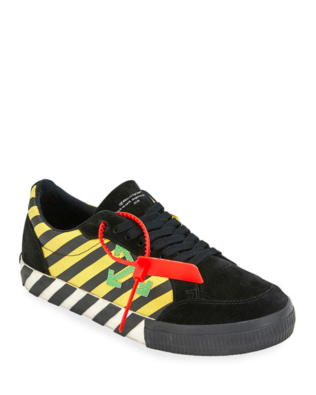 Off-White Men's Arrow Striped Low-Top Sneakers